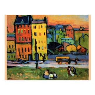Kandinsky - Houses in Munich Postcard