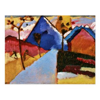 Kandinsky - Kochel, Straight Road Postcard