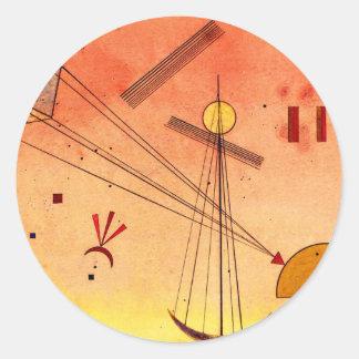Kandinsky - Light Attachment Round Sticker