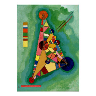 Kandinsky - Multicolored Triangle Poster