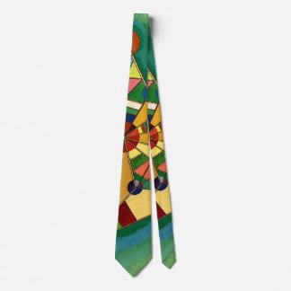 Kandinsky - Multicolored Triangle Tie