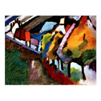Kandinsky - Murnau, Castle and Church Postcard