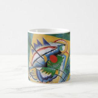 Kandinsky Oval Red Abstract Painting Basic White Mug