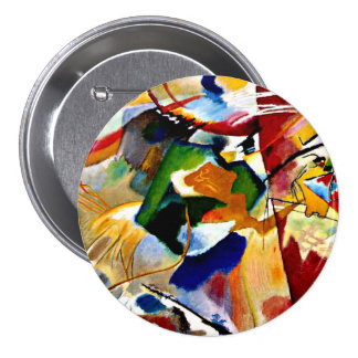 Kandinsky - Painting with Green Center 7.5 Cm Round Badge