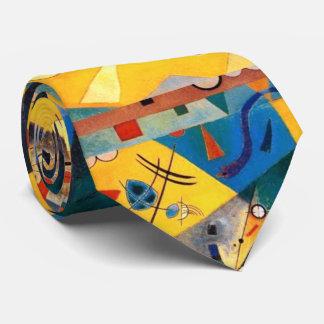 Kandinsky Quiet Harmony Yellow Abstract Art Tie