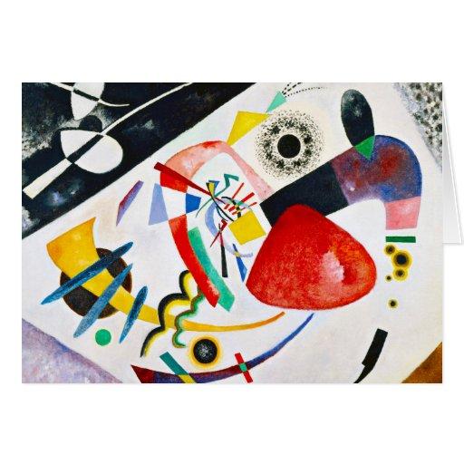 Kandinsky Red Spot Greeting Card