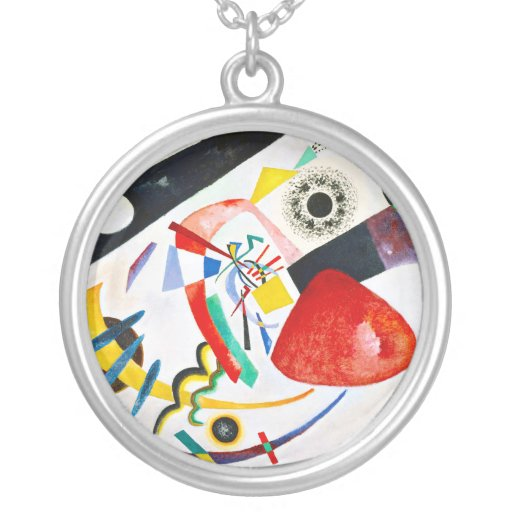 Kandinsky Red Spot Necklace