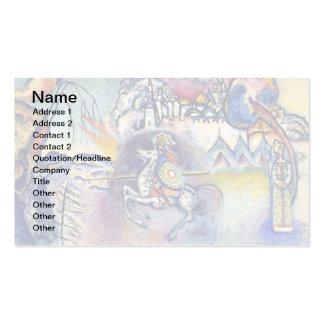 Kandinsky - Saint George and the Dragon Business Card Template