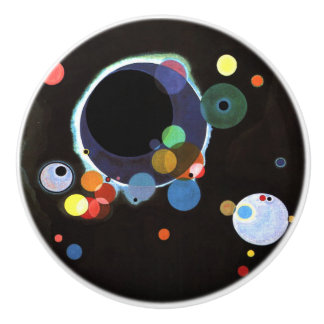 Kandinsky - Several Circles Ceramic Knob