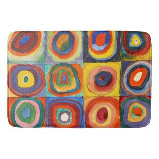 Kandinsky - Squares with Concentric Circles Bath Mats