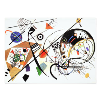 "Kandinsky Tranverse Line Invitations 5"" X 7"" Invitation Card"