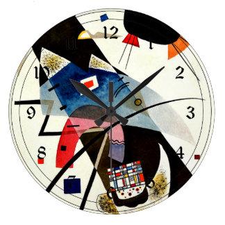 Kandinsky - Two Black Spots Large Clock