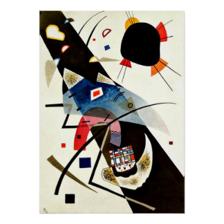 Kandinsky - Two Black Spots Poster