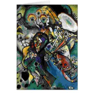 Kandinsky - Two Ovals Card