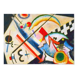 "Kandinsky White Cross Invitations 5"" X 7"" Invitation Card"