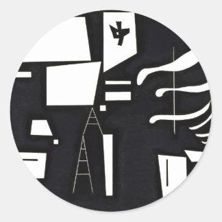 Kandinsky - White, Soft and Hard Classic Round Sticker