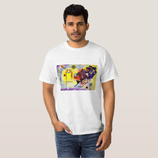 Kandinsky Yellow Red Blue Abstract Art Painting T-Shirt
