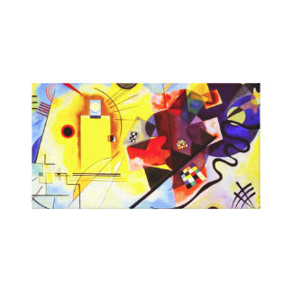 Kandinsky Yellow Red Blue Canvas Wrap Gallery Wrap Canvas