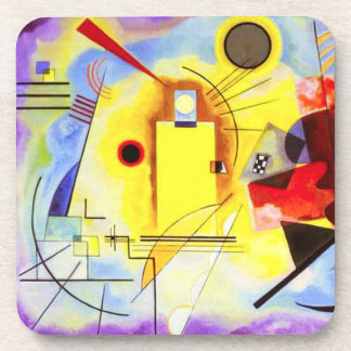 Kandinsky Yellow Red Blue Coasters