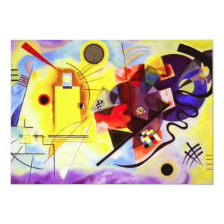 Kandinsky Yellow Red Blue Invitations