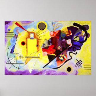 Kandinsky Yellow Red Blue Poster