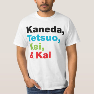 Kaneda Tetsuo etc Names (Light) T-Shirt