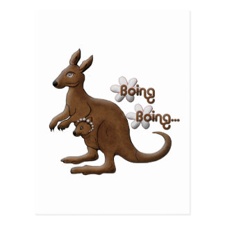 Kangaroo and Baby Kangaroo in Pouch Post Cards