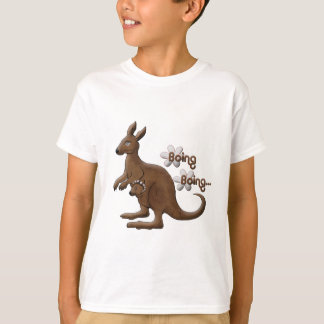Kangaroo and Baby Kangaroo in Pouch T-Shirts