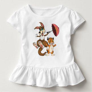 Kangaroo and Baby Tiger Cartoon Toddler T-Shirt