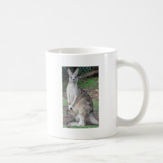 Kangaroo and Joey Basic White Mug