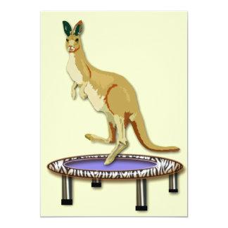 Kangaroo and Trampoline Card