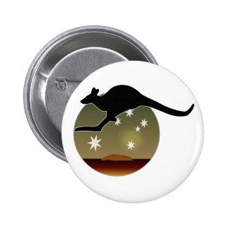 Kangaroo Aussie Icon Badge