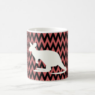 kangaroo basic white mug