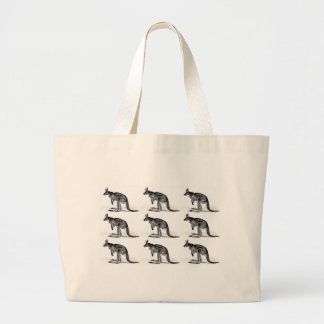 kangaroo boxed in square large tote bag