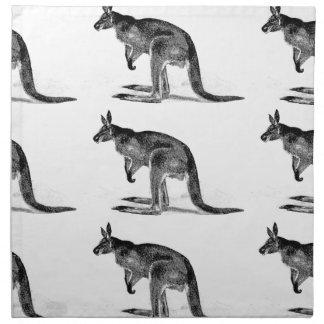 kangaroo boxed in square napkin