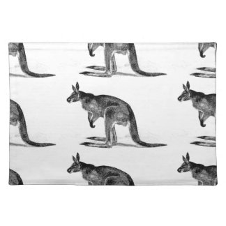 kangaroo boxed in square placemat