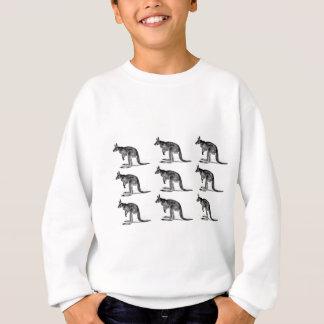 kangaroo boxed in square sweatshirt