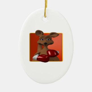 Kangaroo Boxer Ceramic Ornament