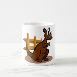 Kangaroo Cartoon Design Basic White Mug