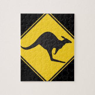 Kangaroo Caution Sign Puzzles