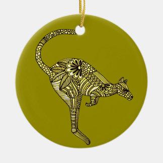 Kangaroo Ceramic Ornament