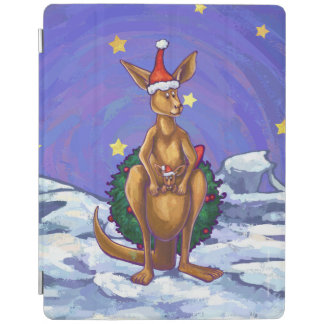 Kangaroo Christmas Starry Night iPad Cover
