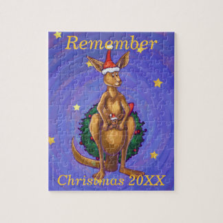 Kangaroo Christmas Starry Night Puzzle