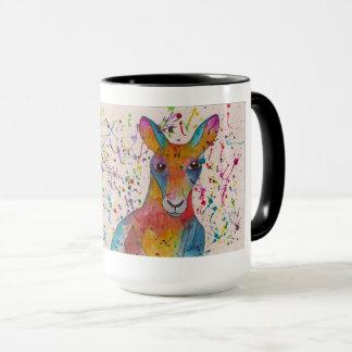 Kangaroo coffee mug whimsical
