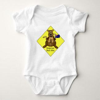 Kangaroo Crossing Baby Bodysuit