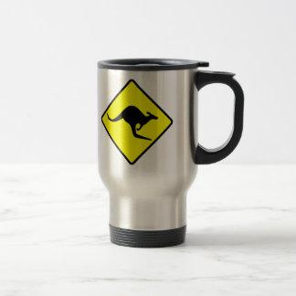 KANGAROO CROSSING - down under/oz/australia/aussie Stainless Steel Travel Mug