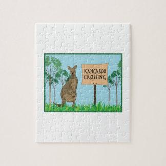 Kangaroo Crossing Jigsaw Puzzle