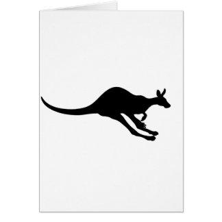 kangaroo cute baby animal fun joy happy beautiful card