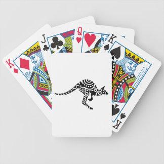 Kangaroo design bicycle playing cards
