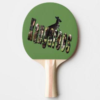 Kangaroo Dimensional Logo And Roo, Ping Pong Paddle